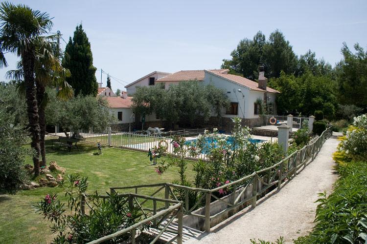 Jardín casa rural Murcia